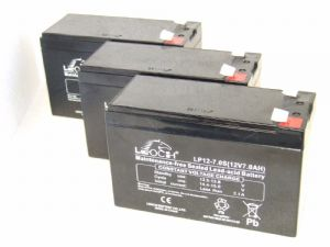 3 x Leoch LP12-7.0S - 12v 7ah Rechargeable Sealed Lead Acid Batteries